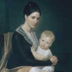 Mrs. Marinus Willett and Her Son Marinus, Jr.