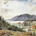 View of West Point from the Side of the Mountain, 1801